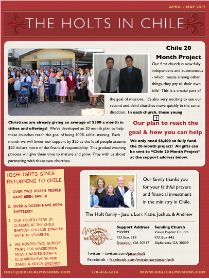 Check out our latest prayer letter